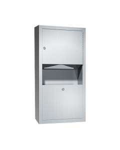American Specialties 0462-AD-9 SURFACE MOUNTED PAPER TOWEL DISPENSER AND WASTE RECEPTACLE