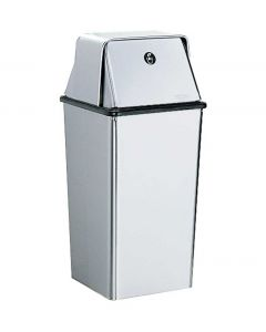 Bobrick B-2250 Floor-Standing Waste Receptacle with Top Cover