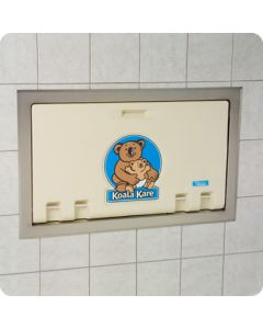 Koala Kare Baby Changing Stations - Horizontal Recess Mounted with Stainless Steel Flange